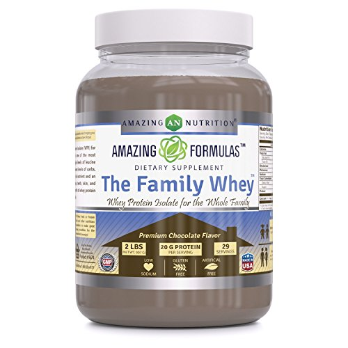 Cheap Amazing Formulas The Family Whey Whey Protein (Isolate) Powder For The Whole Family 2 lbs Most Complete & Purest Form Of Protein – Gluten Free – Premium Chocolate Flavor