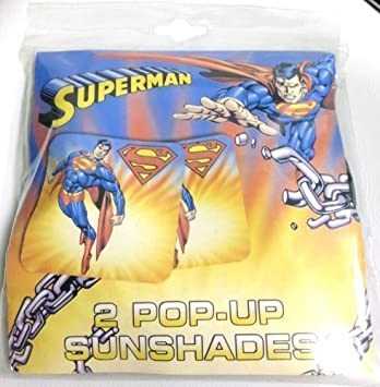 Superman Pop Up Sunshades Pack Of 2