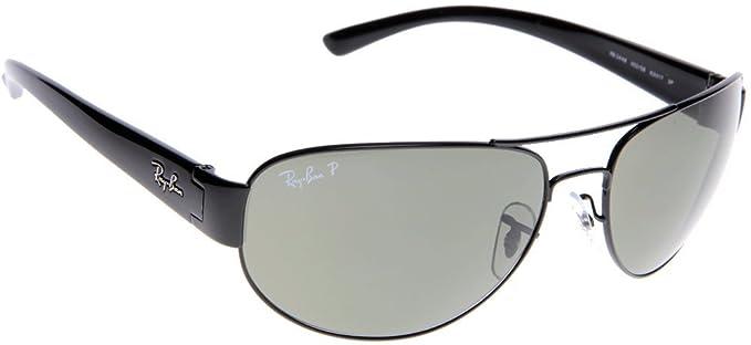 4a6d0c198f6 Ray-Ban Sunglasses (RB 3448 002 58 63)  Amazon.co.uk  Clothing