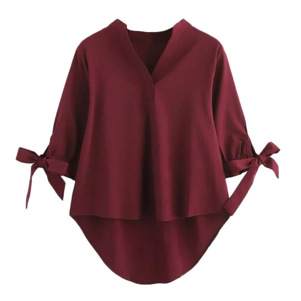 Honestyi Damen Langarmshirt Tops Elegant T-Shirt Sweatshirt Bluse Frauen locker lässige langärmelige offene Front atmungsaktive kardigans mit Tasche