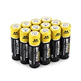 Batmax High Capacity Pack of 12 NiMH 2800mAh AA Rechargeable Batteries (Case included)