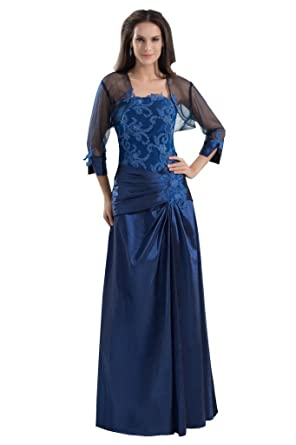 George Bride Elegant Strapless Formal Long Evening Dress With Jacket