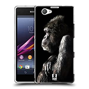 Head Case Designs Male Chimpanzee Wildlife Soft Gel Back Case Cover for Sony Xperia Z1 Compact D5503