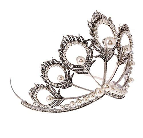 Wiipu Luxury Miss Universe Crown nova princess Rhinestone Crystal Bridal Wedding Crown(A1336) -