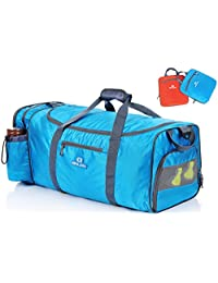 Binlion Carry on Rolling Smell Proof Large Travel Gym Sport Holdall Duffel Bag (Blue)