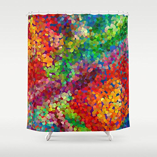 Color Theory Abstract Shower Curtain