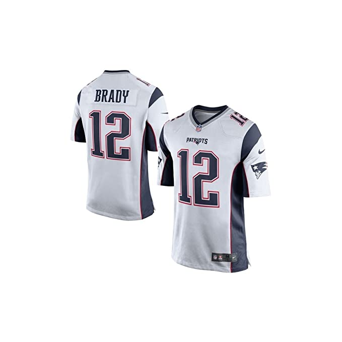 huge selection of 6e8c9 589fe Nike NFL New England Patriots Tom Brady American Football Game Jersey in  White