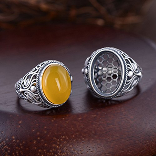 - Ring Blank (12x16mm/13x18mm Oval Blank) Adjustable Thai Sterling Silver Ring Base Oval Cabochon Ring Setting R916B (13x18mm)