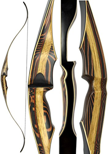TigerShark ONE PIECE Recurve Bow by Southwest Archery USA |LIMITED TIME SALE| available with Stringer Tool | weights 25-60 lb | LEFT and RIGHT HANDED | ASSEMBLY INSTRUCTIONS INCLUDED | 45 RH WS - Green Arrow One Year Later