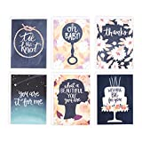 Hallmark Studio Ink Carrie Shryock Greeting Card Assortment (6 Cards with Envelopes)