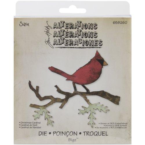 Die Cut Rubber Magnets - Sizzix Bigz Die - Christmas Cardinal by Tim Holtz