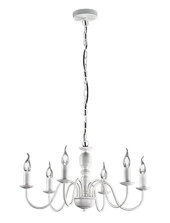 Fiammingo - Lámpara colgante estilo candelabro con 6 luces ...