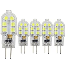 Dayker G4 LED Light Bulb 2W Jc Type Bi-pin Base 15W Halogen Replacement Daylight for Ceiling Lights, Accent Lights, Puck Lighting(5 Pack)
