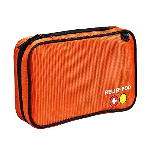 Small First Aid Kit, Relief Pod Orange Emergency Bag Safety Home Kit, 32pc by By-Relief Pod (Image #1)