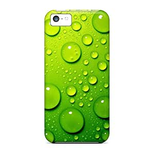 Favorcase Iphone 5c Well-designed Hard Cases Covers Green Water Drops Protector