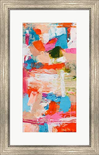 Immersed Sequence I by Tracy Lynn Pristas Framed Art Print Wall Picture, Silver Scoop Frame, 18 x 28 - Tracy Scoop
