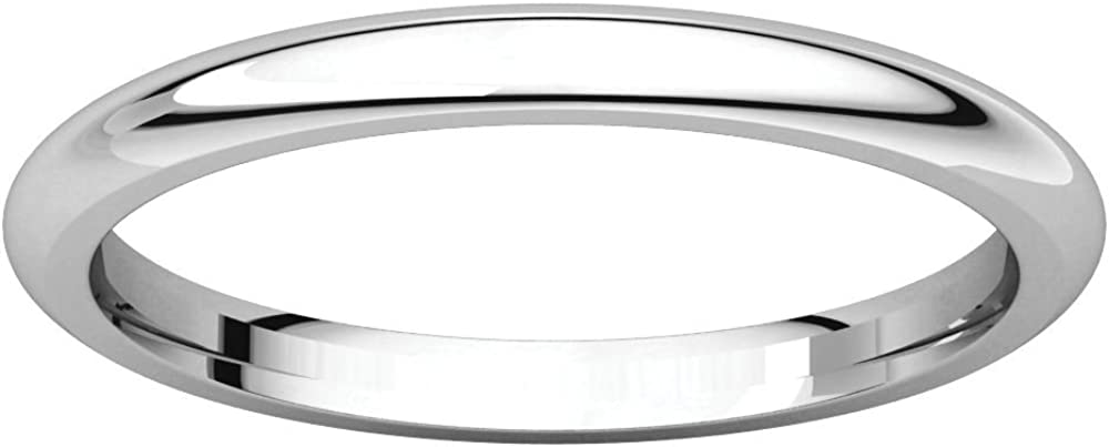 Beautiful Half Round Comfort Fit Band
