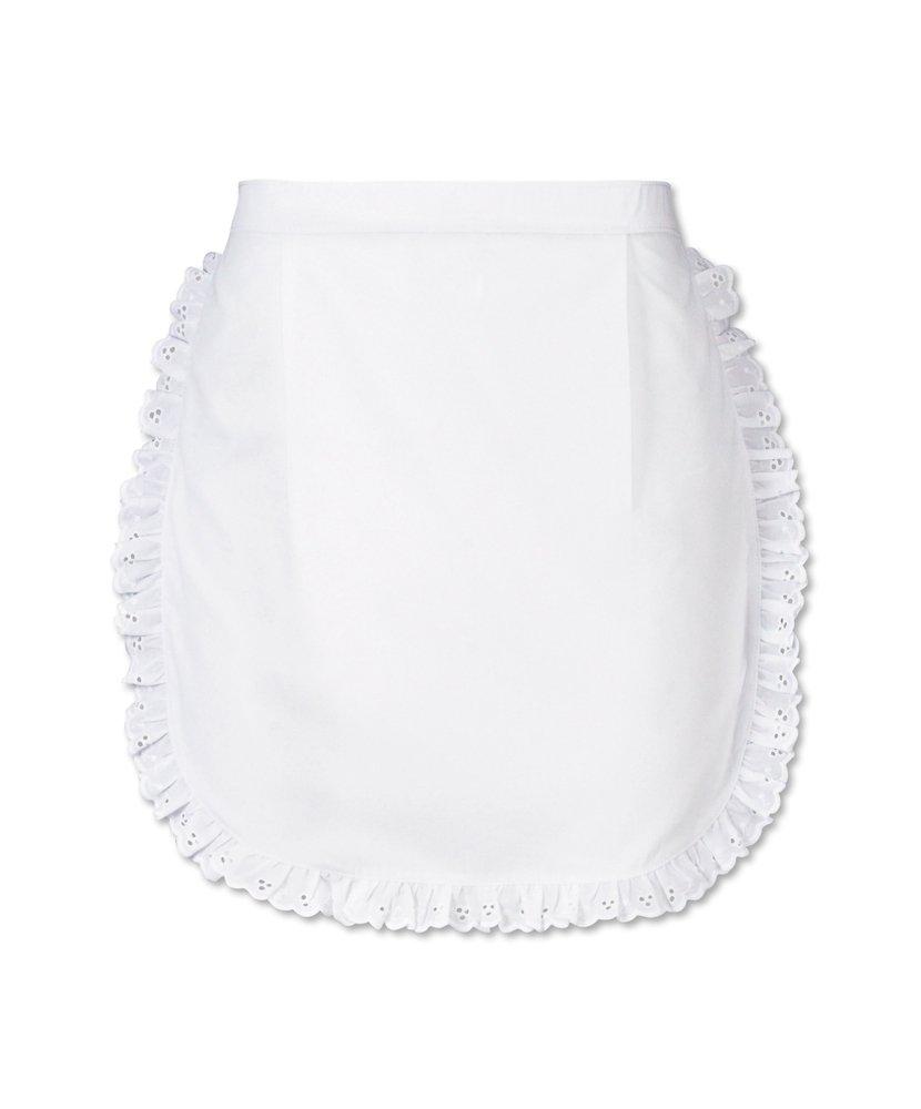 Alexandra STC-W83WH-R Short Waist Apron, Plain, 67% Polyester/33% Cotton, One Size, White