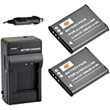 DSTE 2x Li-50B Battery + DC16 Travel and Car Charger Adapter for Olympus Stylus 1010 1020 9000 9010 SP-720UZ iHS 800UZ 810UZ SZ-15 16 iHS 20 30MR Stylus Tough TG-870 WG-4 WG-10 X70 Camera as D-LI92