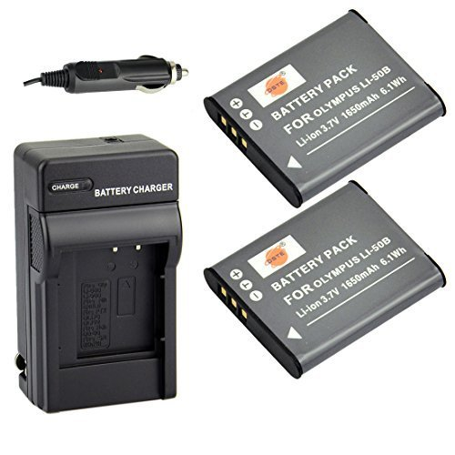 DSTE 2x Li-50B Battery + DC16 Charger Kit for Olympus Stylus 1010 1020 1030 9000 SP-720UZ iHS 800UZ SZ-15 16 iHS 20 30MR Stylus Tough TG-870 I-10 RZ10 RZ18 WG-1 WG-2 WG-3 WG-4 X70 Camera as D-LI92 DST Electron Technological Co. Ltd DAOL04B2