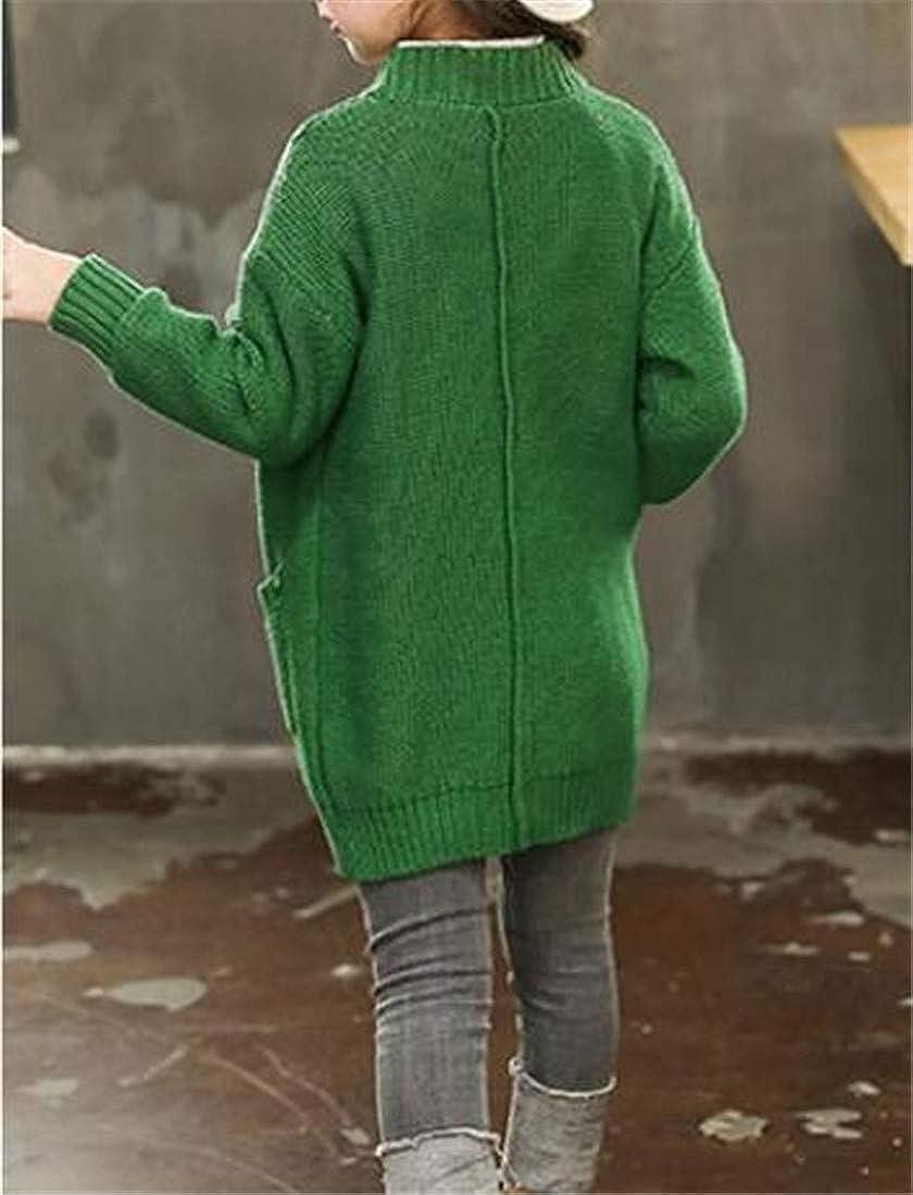 Wofupowga Girls Jumper Knitted Coat Stretchy Cute Cardigans