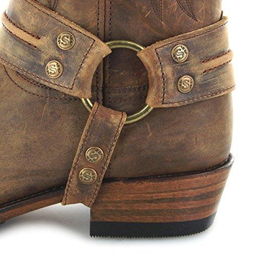 Stivali Moda Fb Boots Sendra 12209 Stivali Da Motociclista Lavado Tan Cane Pazzo Per Donne E Uomini Marrone Lavado Tang