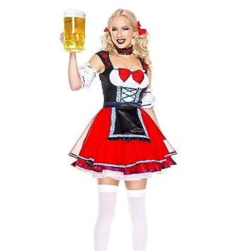 Vestido De Dirndl Alemán, para Mujeres Damas Actriz De ...