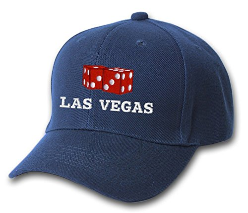 Las Vegas Dice Gambling Embroidered Hat 4 Colors - Navy - OS