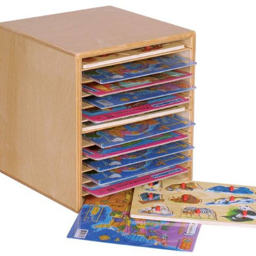Wood Designs WD33200 Tabletop Puzzle Rack, 16 x 15 x 14