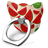 Cell Phone Holder Watermelons Cat Type Ring Cell Phone Stand Adjustable 360° Rotation Finger Cat Type Ring Stand for IPad Phone X/6/6s/7/8/8 Plus/7, Galaxy S9/S9 Plus/S8/S7 Android Smartphone