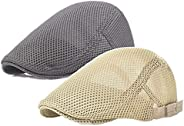 Mai Poetry Men's Linen Duckbill Ivy Newsboy Hat Scally Flat