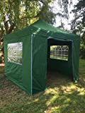 All Seasons Gazebos, 3x3m, Heavy Duty, Fully Waterproof, PVC Coated, Premium Pop Up Gazebo With 4 x 100% waterproof Side Panels (Same quality as the roof) + Carry Bag With Wheels and 4 x leg weight bags. Choice of Colours
