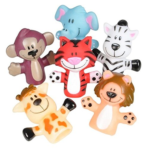 Kicko Animal Finger Puppets - 12 Per Package - Fun Toy for Boys and Girls
