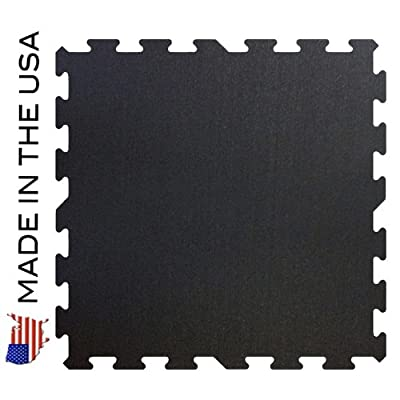 """Rubber Flooring Gym Tiles 23'' x 23"""" - 9 Tile Pack - 33 Sq Ft"""