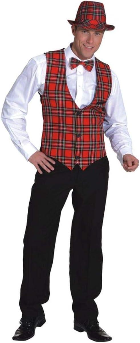 Disfraz de fiesta para hombre - Chaleco de escocés - 52/54: Amazon ...