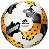 adidas Performance MLS Glider Soccer Ball, White/Solar Gold/Bold Onyx, Size 5