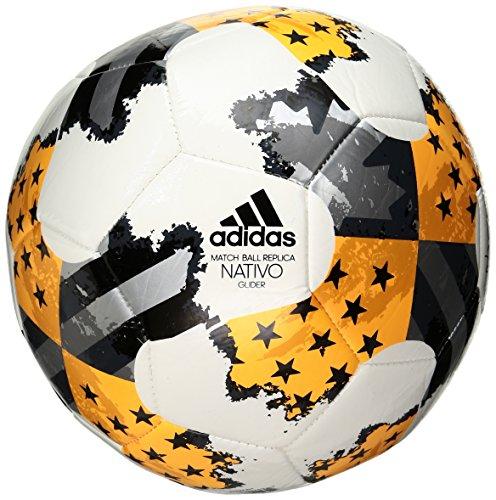 adidas Performance MLS Glider Soccer Ball, White/Solar Gold/Bold Onyx, Size 3