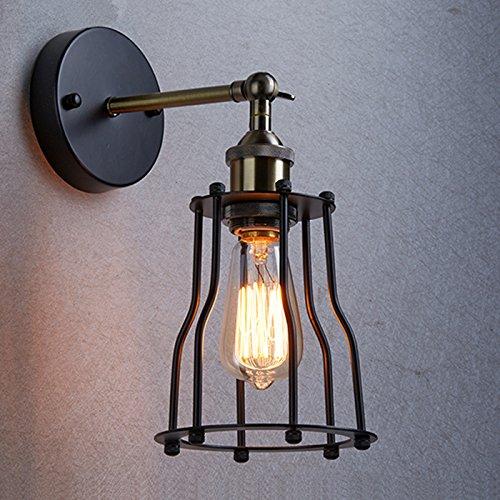 Yobo illuminazione industriale edison vintage lampada applique 1 luce paralume Featured lampada gabbia di filo YOBO Lighting TN-YJJ-984