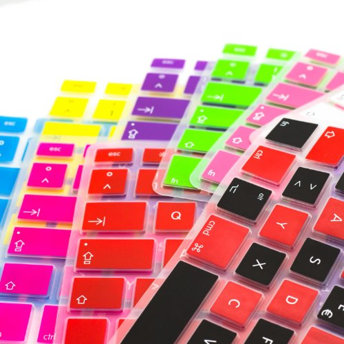MiNGFi Silicone Keyboard Cover Protector Skin for Sony Vaio CA SA SB SC SD Series 14 inch E Series E141 E14A 13.3 inch S Series S131 S13A SVS131 SVS13A 13P T Series T13 SVT13 SVE141 SVE14A 14P US Keyboard Layout - Translucent Blue