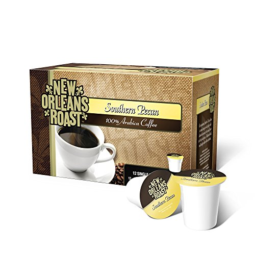 New Orleans Roast Coffee & Tea Southern Pecan Single Cups, 12 Counts, Pack of 3