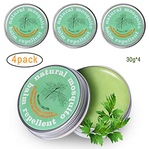 Naturals Mosquito Insect Bite Relief Balm,Relieve Itching,Diminish  Inflammation,Antianaphylaxis,Refreshing,Total 4 23oz(4 pots)