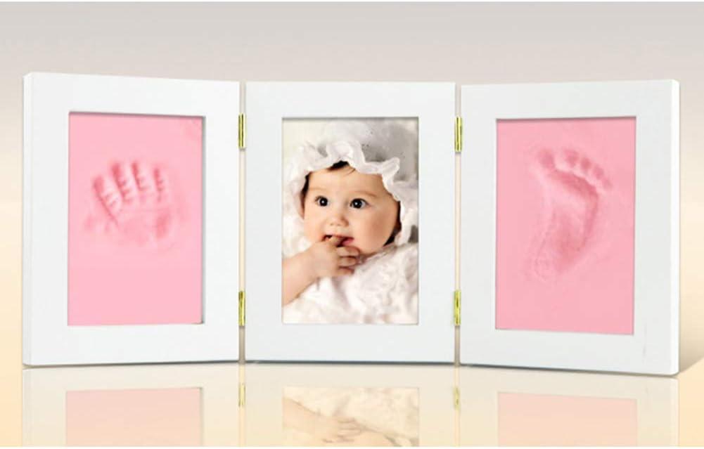 PinShang Little Baby Handprint /& Footprint Kit Baby Parent-Child Photo Frame DIY Handprint Imprint Air Drying Soft Clay Footprint 35 15 2cm