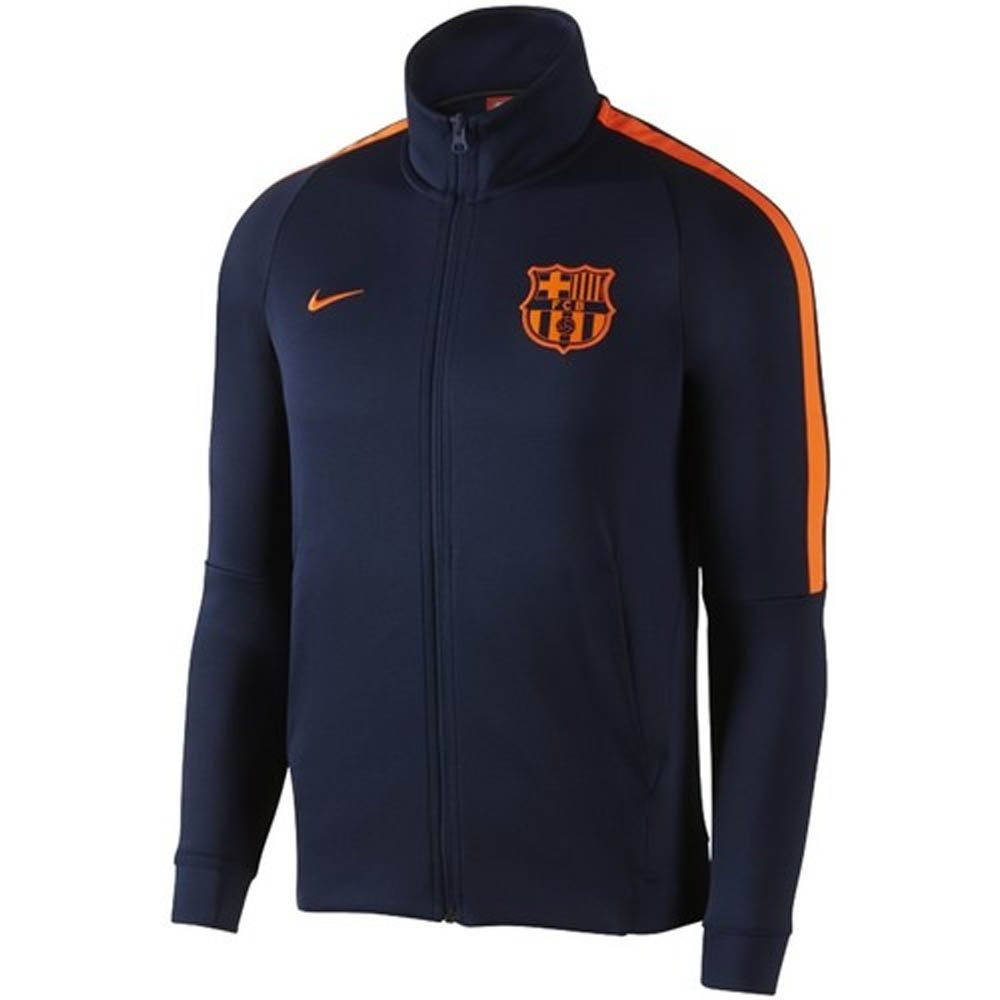 2017-2018 Barcelona Nike Authentic Franchise Jacket (Obsidian) Kids B079WKZRSZNavy LB 30-32\
