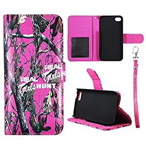 Wallet Camo Pink RGHT For Apple Iphone 5C Synthetic Leather Wallet Flip ID Pouch Credit Card Holder Case Cover Phone Case Snap on Sheild Protector Cover