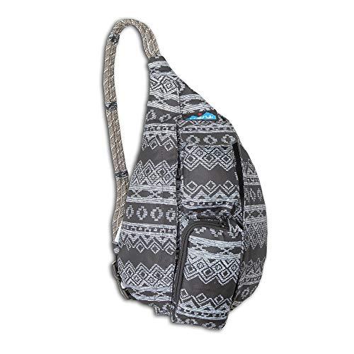 KAVU Mini Rope Sling Bag Crossbody Shoulder Polyester Backpack, Night Knit, One Size