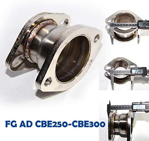 """3"""" 2 Bolt Flange to 2.5"""" 2 Bolt Flange Catback Exhaust Muffler Extension Adapter"""