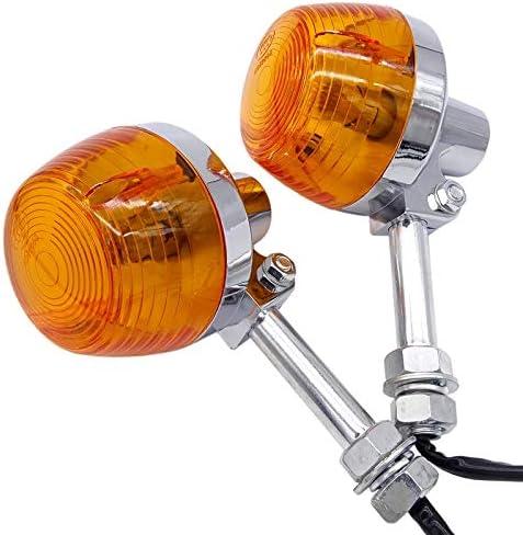 Encienda la Motocicleta luz de se/ñal en Forma for Honda XL100 C70 CT70 CT90 CB350 CB450 CB750 CM400 Moto Indicadores Intermitentes Intermitentes ambarina de la l/ámpara NO LOGO Xjb-MOZX