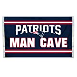 NFL New England Patriots Man Cave Flag with 4 Grommets, 3 x 5-Feet