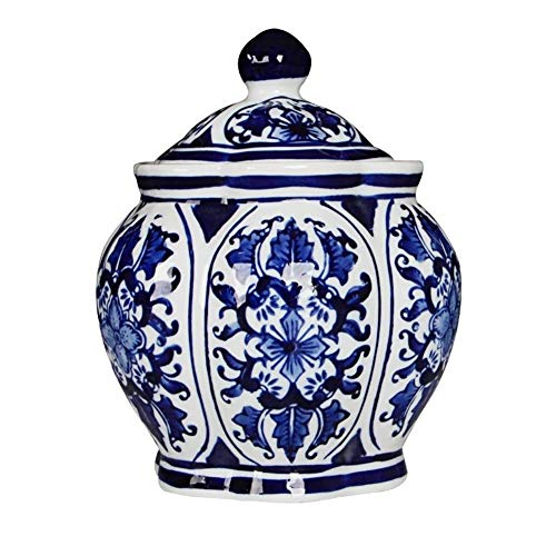 KQHSM Jingdezhen Ceramic Pot Blue and White Porcelain Chinese Living Room TV Cabinet Decorative Arts Craft from KQHSM