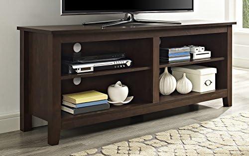 Amazon Com We Furniture 58 Wood Tv Media Stand Storage Console